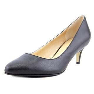 Cole Haan Lena Mid Pump II Pointed Toe Leather Heels