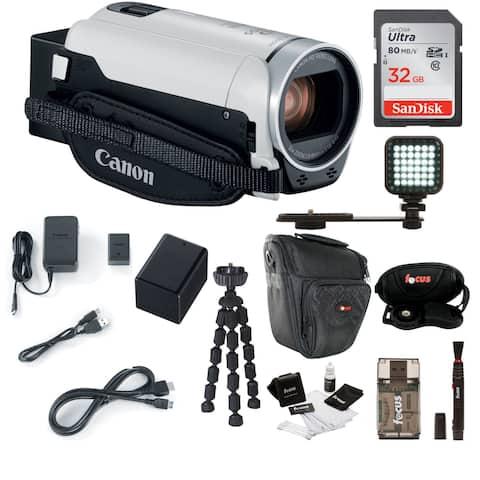 Canon VIXIA HF R800 Camcorder (White) with 32GB Supreme Bundle