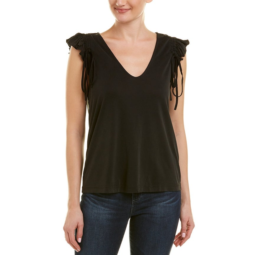 Ella Moss Womens Loera Tie Waist Top with 3//4 Sleeves