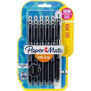 Sanford 1951728 0.7 mm InkJoy Gel Pens, Black - Pack of 6