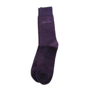 Calvin Klein Mens Egyptian Cotton Stretch Dress Socks - 7-12