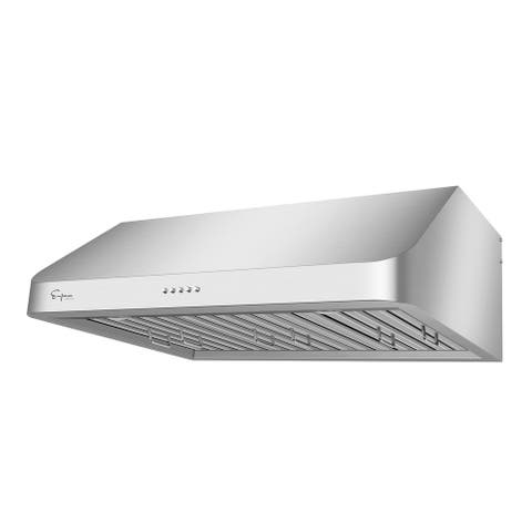 """Empava 36 in. 500 CFM Ducted Under Cabinet Range Hood with Permanent Filters and LED Lights in Stainless Steel - 35.5"""" x 22"""""""