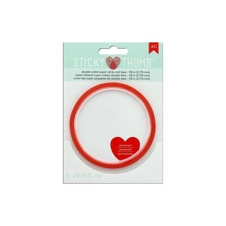 """AMC Sticky Thumb Tape 1/8"""" Red"""