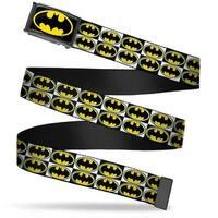 Batman Fcg Black Yellow Black Frame Batman Shield Checkers Webbing Web Belt