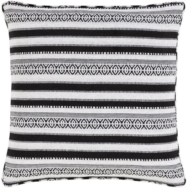 Madora Bohemian Striped Cotton Blend Throw Pillow Overstock 32534657