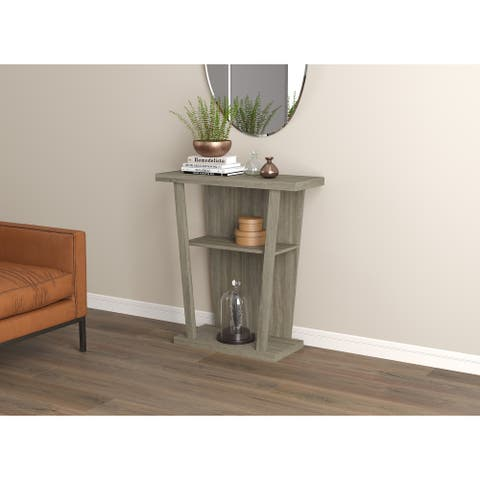Console Table 31L Dark Taupe 2 Shelf