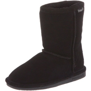 Bearpaw Boots Girls Emma Pull on Stylish Suede Wool 608Y