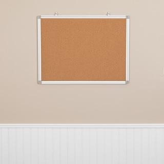 Wall Mounted Natural Cork Board - Aluminum Frame, Notes/Memos