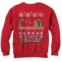 Nintendo Mario and Bowser Ugly Christmas Sweater