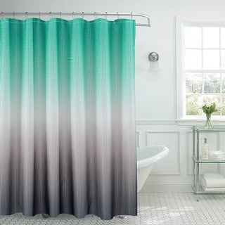 Link to Creative Home Ideas Ombre Textured Shower Curtain with Beaded Rings Similar Items in Shower Curtains
