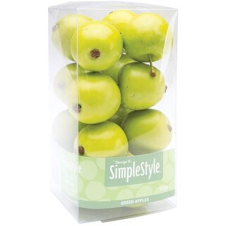 Design It Simple Decorative Fruit 15/Pkg-Mini Green Apples