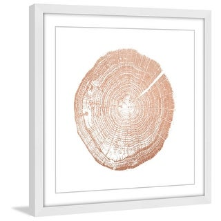 "Marmont Hill MH-AMDGRN-144-WFP-32  32"" x 32"" - ""Log Cutout Rose Gold"" Framed Giclee Abstract Print on Paper by Amanda Greenwood"