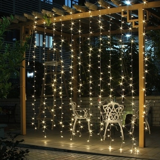 AGPtek 300 LED Outdoor Fairy Curtains String light for Xmas Wedding Party