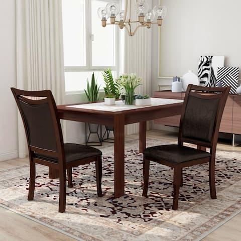 Furniture of America Zita Contemporary Espresso Side Chairs (Set of 2)