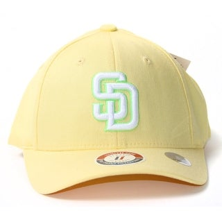 Light Yellow Youth Size Flex Fit Hat - San Diego Padres