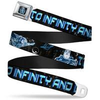 Space Ranger Sr Logo Full Color Black Blue Buzz Poses Stars To Infinity And Seatbelt Belt