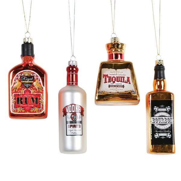 shop christmas tree ornaments top shelf liquor bottles glass