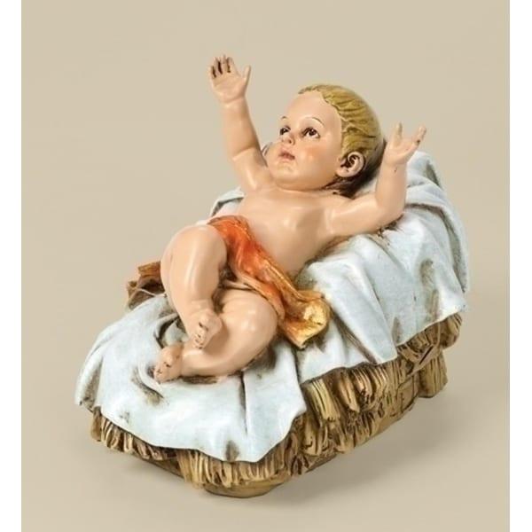 "7.75"" Joseph's Studio Baby Jesus in Manger Outdoor Christmas Nativity Statue"