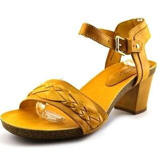 Pikolinos Praga Women Open Toe Leather Yellow Sandals