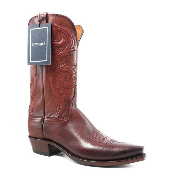 03560a51b1e Shop Lucchese Womens N4773.54 Antique Wine Cowboy, Western Boots ...