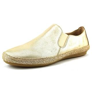 Easy Spirit e360 Gallen Women Round Toe Leather Gold Loafer