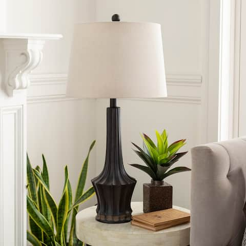 """Brena Classic Brown Tapered 28.5-inch Table Lamp - 28.5""""H x 14""""W x 14""""D"""