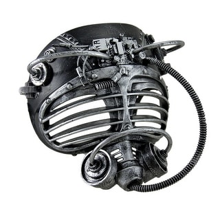 Metallic Finish Steampunk Full Face Submarine Diver Mask - 7.5 X 7 X 5 inches
