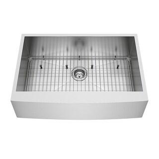 VIGO Camden Stainless Steel 33-inch Kitchen Sink, Grid and Strainer