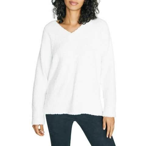SANCTUARY Womens White Long Sleeve Jewel Neck Top Size XL