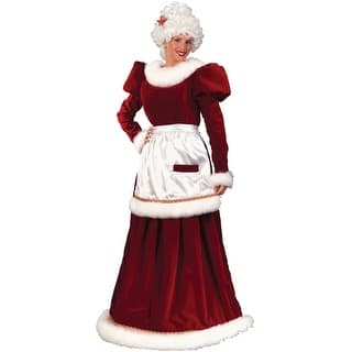 Fun World Velvet Mrs Claus Adult Costume - Red|https://ak1.ostkcdn.com/images/products/is/images/direct/c9255bfe610c9769a42b29cdda5edfac568f3b04/Fun-World-Velvet-Mrs-Claus-Adult-Costume.jpg?impolicy=medium