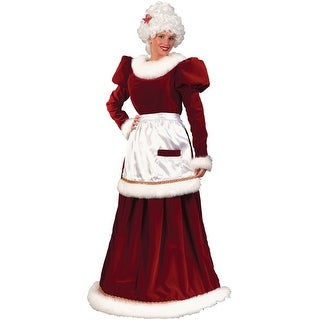 Fun World Velvet Mrs Claus Adult Costume - Red