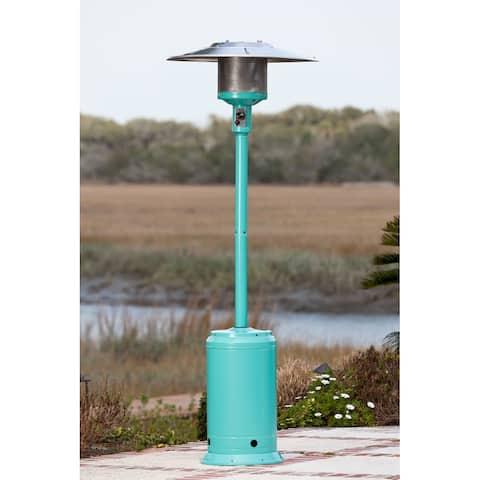 Fire Sense 61130 46,000 BTU Aqua Blue Powder Coated Patio Heater - Aqua Blue Powder Coat