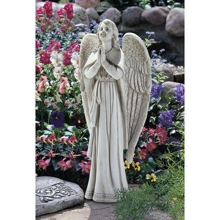 LARGE DIVINE GUIDANCE ANGEL STATUE DESIGN TOSCANO angels religious art