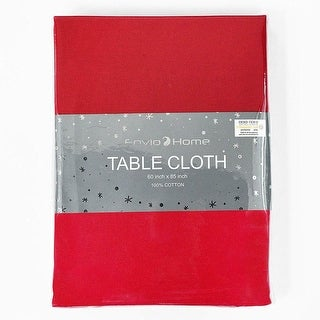 "Link to EnvioHome Cotton Rectangular Table cloth  60"" x 85"" - Red Tablecloth Similar Items in Decorative Pillows"