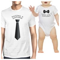 Ladies Love Gentleman Funny Matching Gift T-Shirts For Dad and Baby