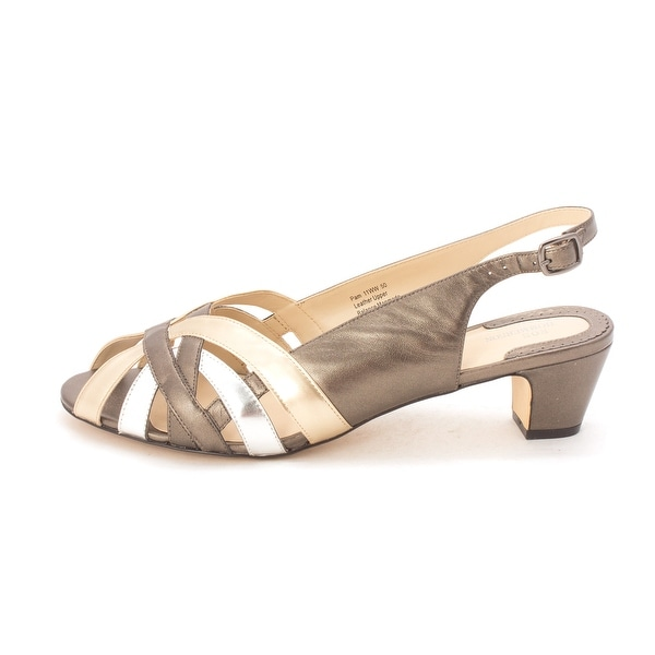 Ros Hommerson Womens pam Leather Open Toe Casual Slingback Sandals - 11