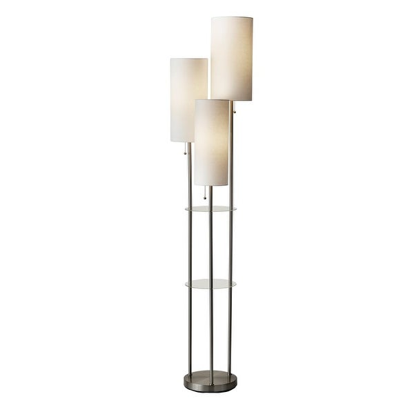 """Adesso 4305 Trio 3-Light 68"""" High Floor Lamp - Brushed Steel - n/a"""