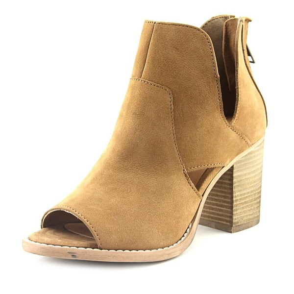 Rebels Rikki Women Open-Toe Leather Tan Bootie