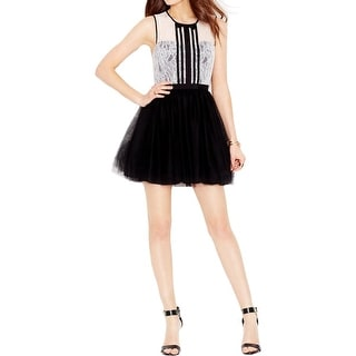 BCBGeneration Womens Party Dress Tulle Mini