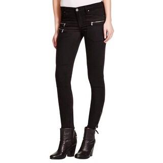 Blank NYC Womens Skinny Jeans Zipper Detail Stretch