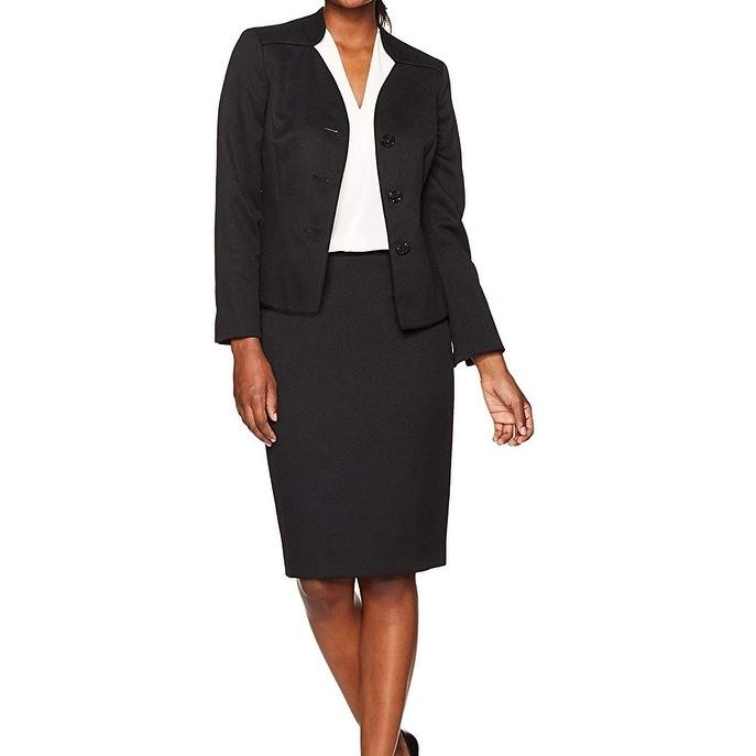 biggest discount on wholesale popular design Le Suit Women's Suit Blazer Black Size 16 Skirt Set Button Front Career