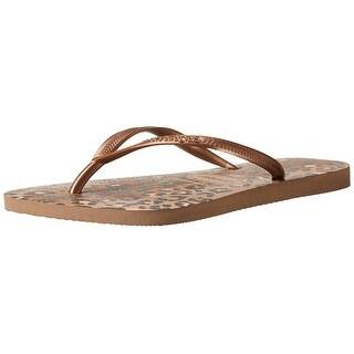 Havaianas Womens Slim Animals Round Toe Beach Slide Sandals