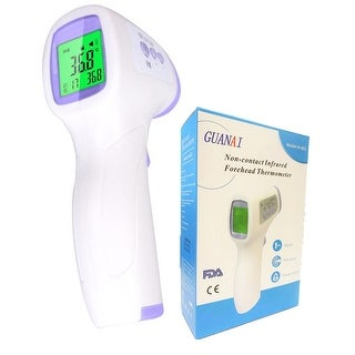 Non-contact Infrared Forehead Thermometer for Body & Ear Temperature Measurement - Fast Reading LCD Display and Memory Function
