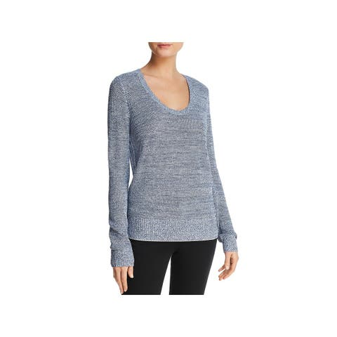 Theory Womens Pullover Sweater Lightweight Scoop Neck - L