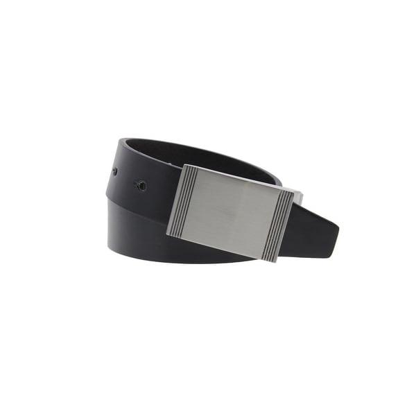 Steve Madden Mens Casual Belt Faux Leather Reversible