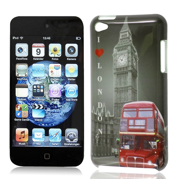 Big Ben Clock Design IMD Hard Back Case Cover Guard Skin Gray for iPod Touch 4G