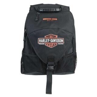 Harley-Davidson Vintage Bar & Shield Voyager Backpack, Black BP4165S-ORGBLK