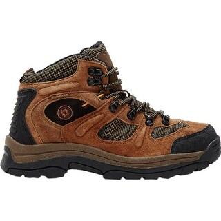 Nevados Men's Klondike Waterproof Mid Hiking Boot Earth Brown/Black/Tigerlily Orange Suede