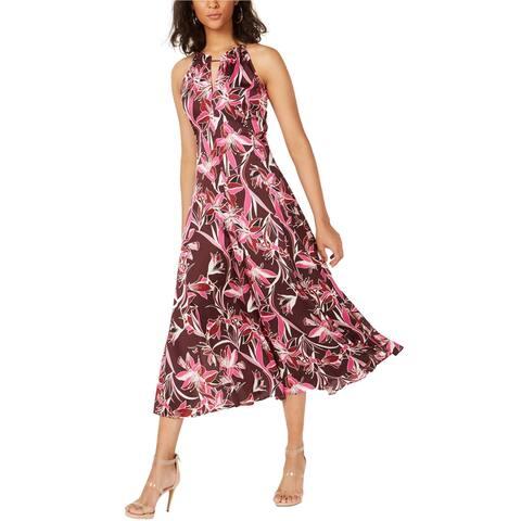 Bar Iii Womens Floral Midi Dress