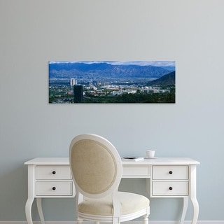Easy Art Prints Panoramic Images's 'High angle view of a city, Burbank, California, USA' Premium Canvas Art